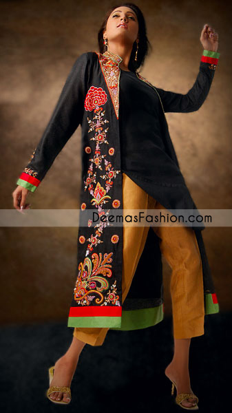 Ladies Dress Design Pakistan-Black Gown