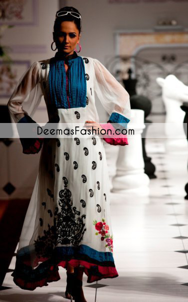 Black White Casual Wear Designer Dress