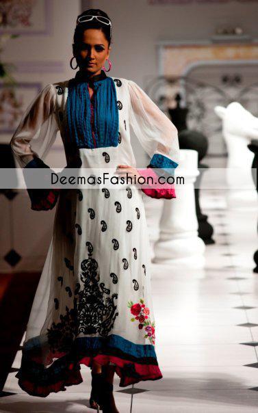 Black White Casual Wear Designer Dress