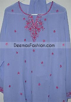 Pakistani Fashion Blue Georgette Shalwar Kameez