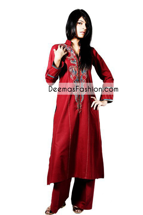 Bright Red Casual Wear Dress