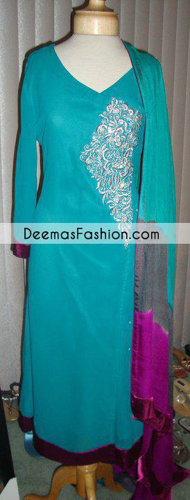Ferozi Andrakha Style Party Dress