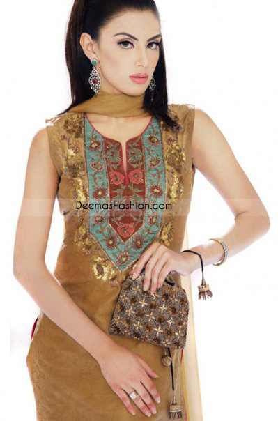 Ladies Designer Clothes - Golden Yellow Casual Wear