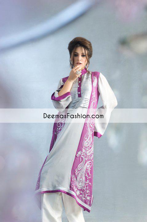 Grey Purple Aline Casual Wear Dress