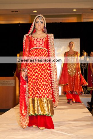 Latest Pakistani Fashion 2011 Red Formal Bridal Dress