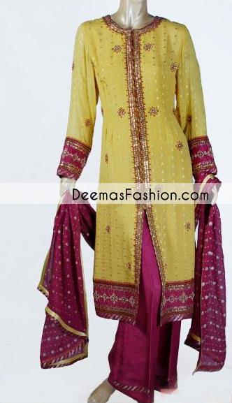 Lemon Yellow Dark Pink Casual Front Open Dress
