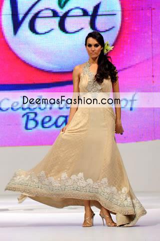 Light Brown Designer Wear Casual Pishwas