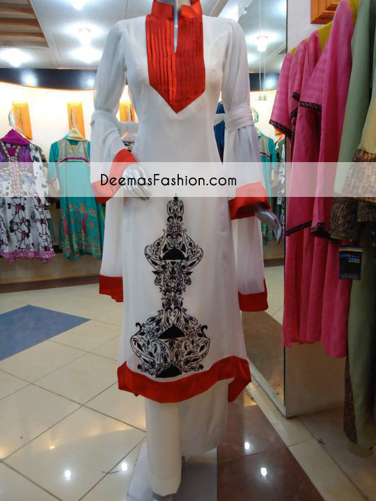 Red White Casual Wear Dress