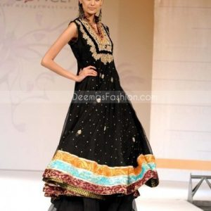 Stylish Black Pure chiffon