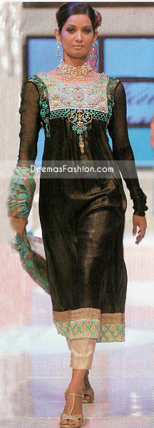 New Pakistani Clothing Stylish Black