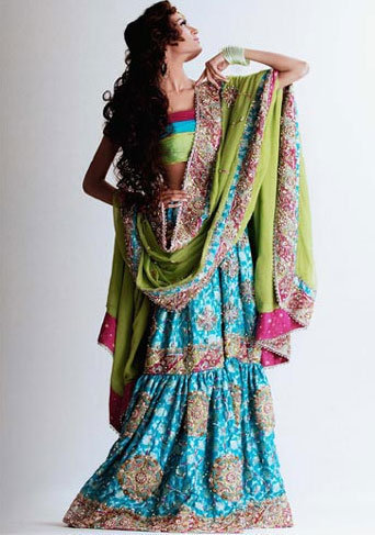 Traditional Ferozi Green Gharara