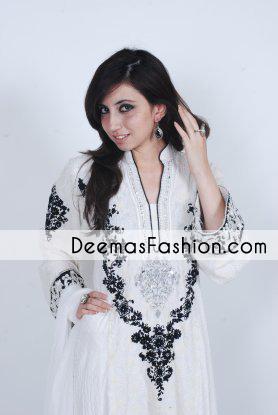 White Black Casual Wear Aline Dress